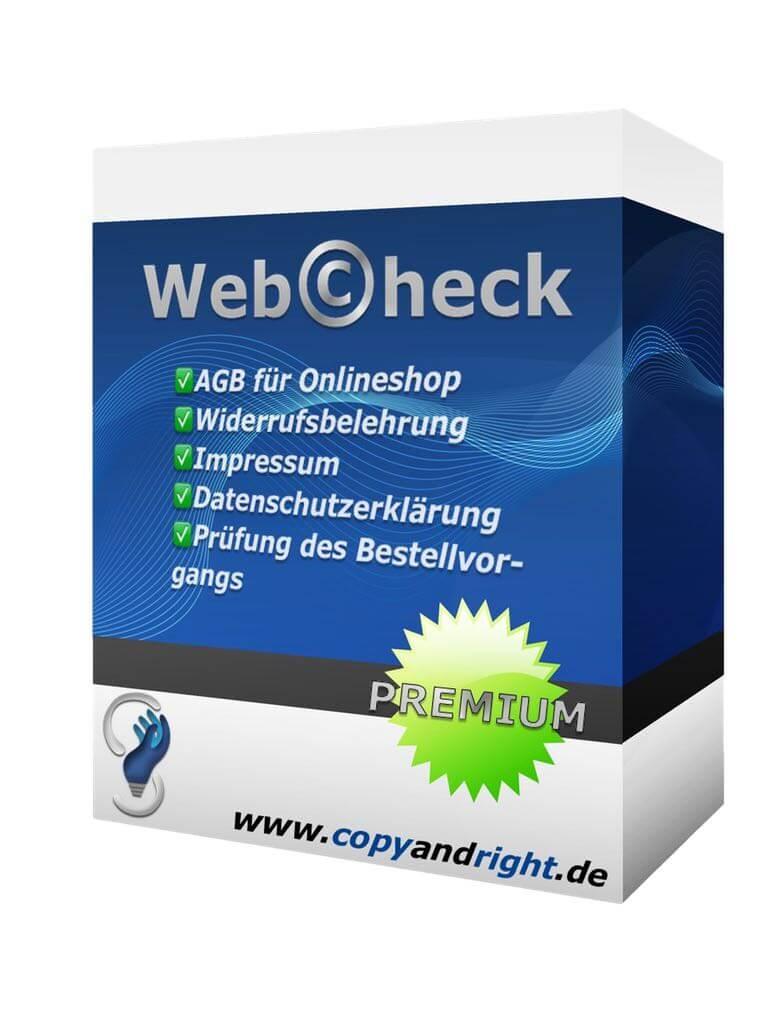 Abmahnschutzpaket für Onlineshop vom Anwalt- Webcheck - PREMIUM