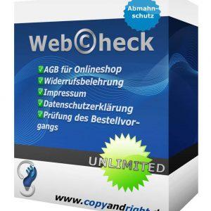 Abmahnschutzpaket für Onlineshop vom Anwalt - WebCheck-UNLIMITED