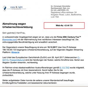 Abmahnung Wegen Urheberrechtsverletzung Fake