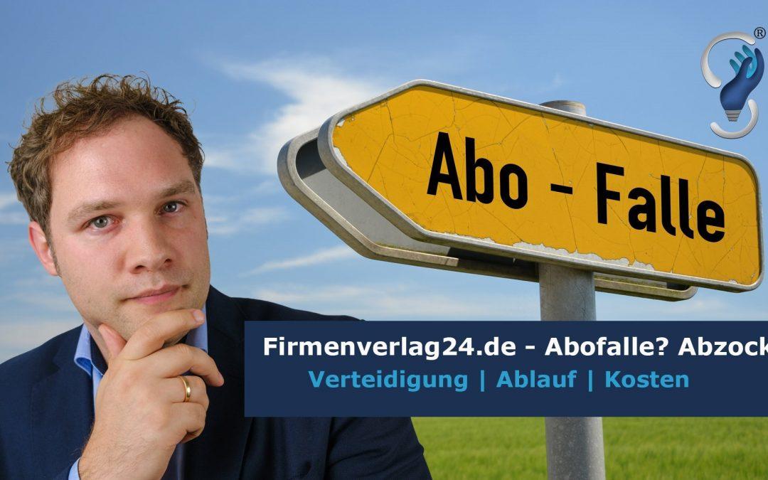 DBV Verlagsgesellschaft mbH | Firmenverlag24.de | Telefonmasche, Branchenbuchabzocke, Abofalle, Anwalt